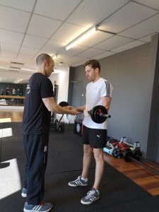 Young Man lifting weights Personal Training Perth, Perth Fitness Classes Scotland