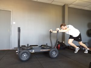 Young Man Pushing the Tank, Perth Fitness Classes Scotland