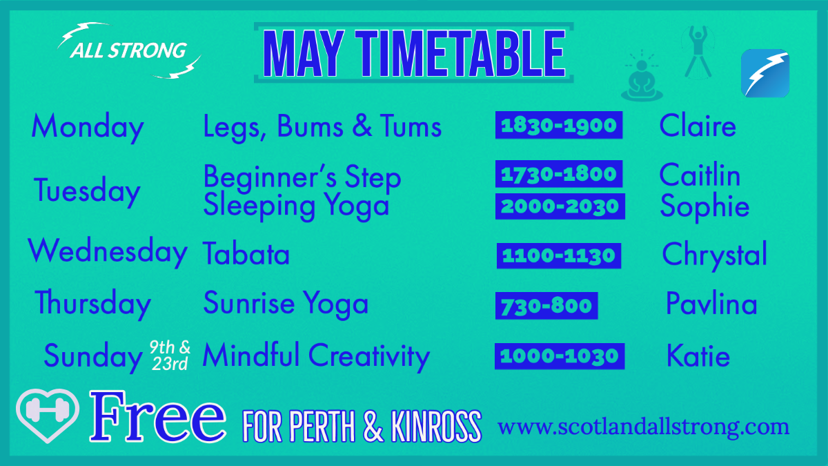 All Strong May Online Timetable