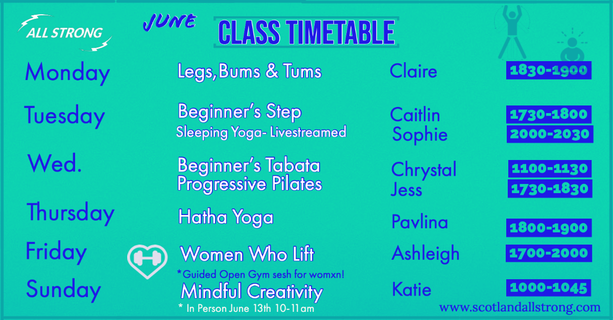 May 2021 Online Timetable